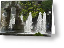 Battle Fountain Greeting Card