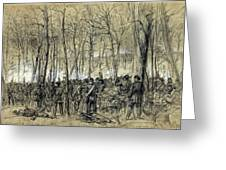 Battle In The Wilderness 1864 - Civil War - Virginia Greeting Card