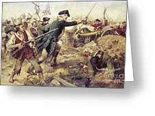 Battle Of Bennington Greeting Card by Frederick Coffay Yohn