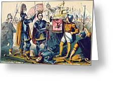 Battle Of Bosworth, Henry Vii Crowning Greeting Card