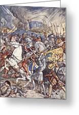 Battle Of Fornovo, Illustration Greeting Card