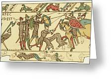 Battle Of Hastings The Battle Rages Greeting Card