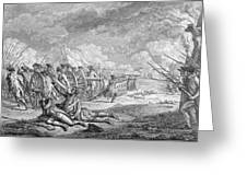 Battle Of Lexington, April 19th 1775, From Recueil Destampes By Nicholas Ponce, Engraved Greeting Card