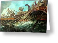 Battle Of Salamis, 480 Bce Greeting Card