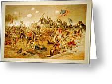 Battle Of Spotsylvania Thure De Thulstrup Greeting Card