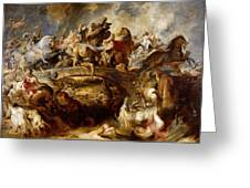 Battle Of The Amazons Greeting Card