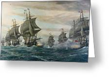 Battle Of Virginia Capes Greeting Card