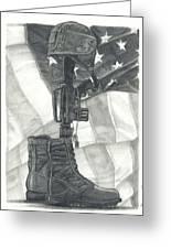 Battlefield Cross Greeting Card