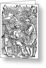 Battlefield Surgeon, 1540 Greeting Card
