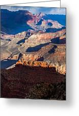 Battleship Rock At The Grand Canyon Greeting Card