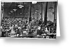 Baudot Telegraph System Greeting Card