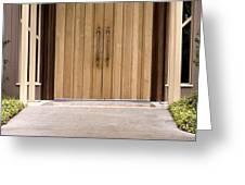 Baughman Center Front Door Greeting Card