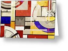 Bauhaus Rectangle Three Greeting Card
