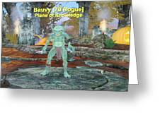Bauvy As A Goblin Rogue Greeting Card