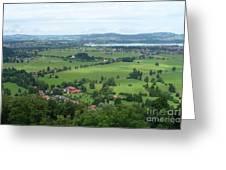 Bavarian Green Valley Greeting Card