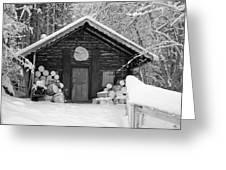 Bavarian Hut In Snow Greeting Card