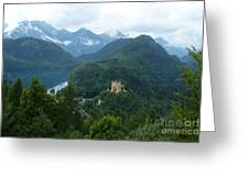 Bavarian Lake With Castle Greeting Card