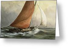 Bawley In The Estuary Greeting Card