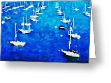 Bay Boats Greeting Card