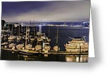 Bay Bridge East Span With Yachts Greeting Card