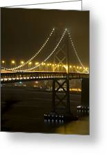 Bay Bridge Fog Greeting Card