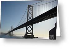 Bay Bridge Morning Greeting Card