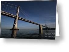 Bay Bridge Noir Greeting Card