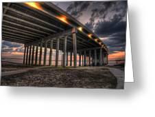 Bay Bridge Sunset 2 Greeting Card