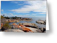 Bay Of Fires Panorama Greeting Card