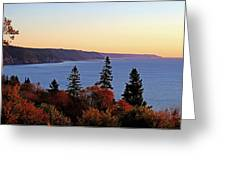 Bay Of Fundy Coastline - New Brunswick Canada Greeting Card