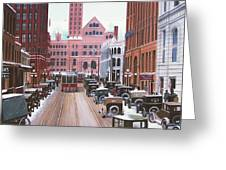 Bay Street Christmas Eve 1924 Greeting Card