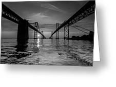 Bay Bridge Strength Greeting Card