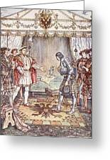 Bayard Presented To Henry Viii Greeting Card