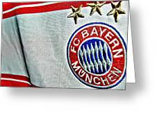Bayern Munchen Poster Art Greeting Card