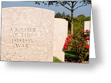 Bayeux British Cemetery Unknown Soldier Greeting Card