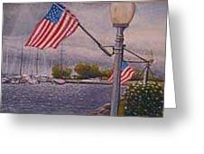 Bayfield On The 4th Greeting Card by Rick Huotari