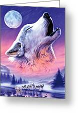 Baying To The Moon Greeting Card
