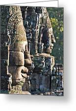 Bayon Faces - Angkor Wat - Cambodia Greeting Card