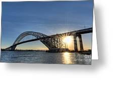 Bayonne Bridge Sunburst Greeting Card