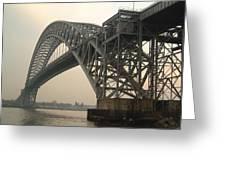 Bayonne Bridge Greeting Card by Wayne Gill