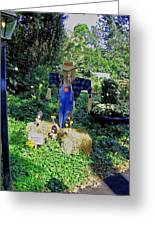 Bayou Crow Scarecrow At Bellingrath Gardens Greeting Card