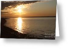 Bayville Sunset Greeting Card by John Telfer