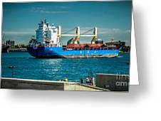 Bbc Elbe On St Clair River Greeting Card