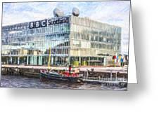Bbc Scotland Broadcasting Centre Glasgow Greeting Card