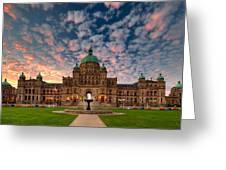 Bc Parliament Greeting Card by David Buhler