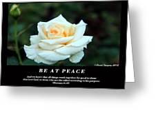 Be At Peace Greeting Card