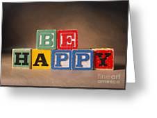 Be Happy - Jabberblocks Greeting Card