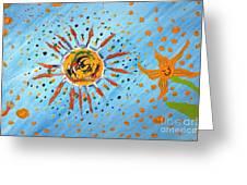 Be Like The Sun Greeting Card