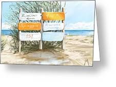 Beach 151 Greeting Card
