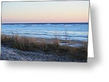 Beach And Ice Greeting Card